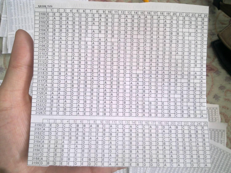 ответы по ент за 2012 год вариант 5219